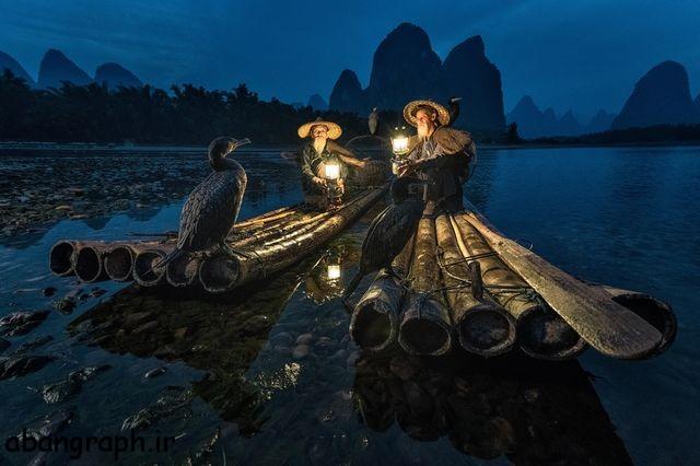 عکس روز نشنال جئوگرافیک ماهیگران در شب , نشنال جئوگرافیک, ماهیگیر, عکس روز, عکس, شب, روز